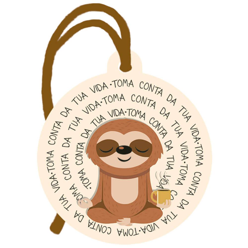 Placa TAG em MDF Toma Conta da Tua Vida (8x9cm)