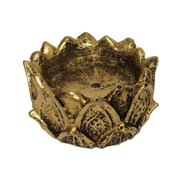 Porta Incensos Flor de Lótus (Dourada)
