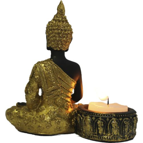 Porta Vela Buddha Meditando em Resina (11cm)