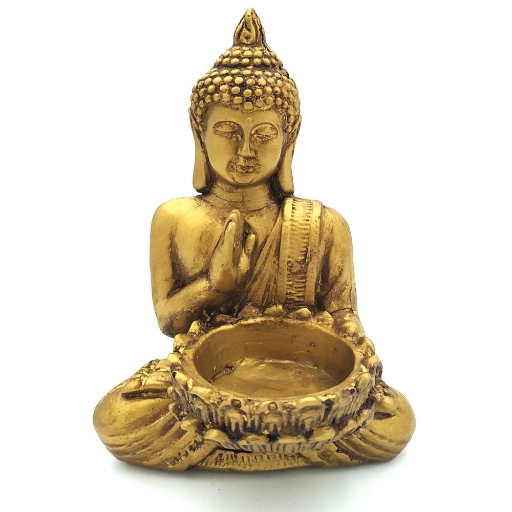 Porta Velas Rechaud Buda com Flor de Lótus