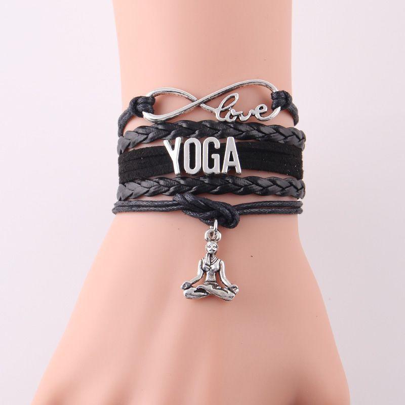 Pulseira Yoga Amor Infinito com Pingente