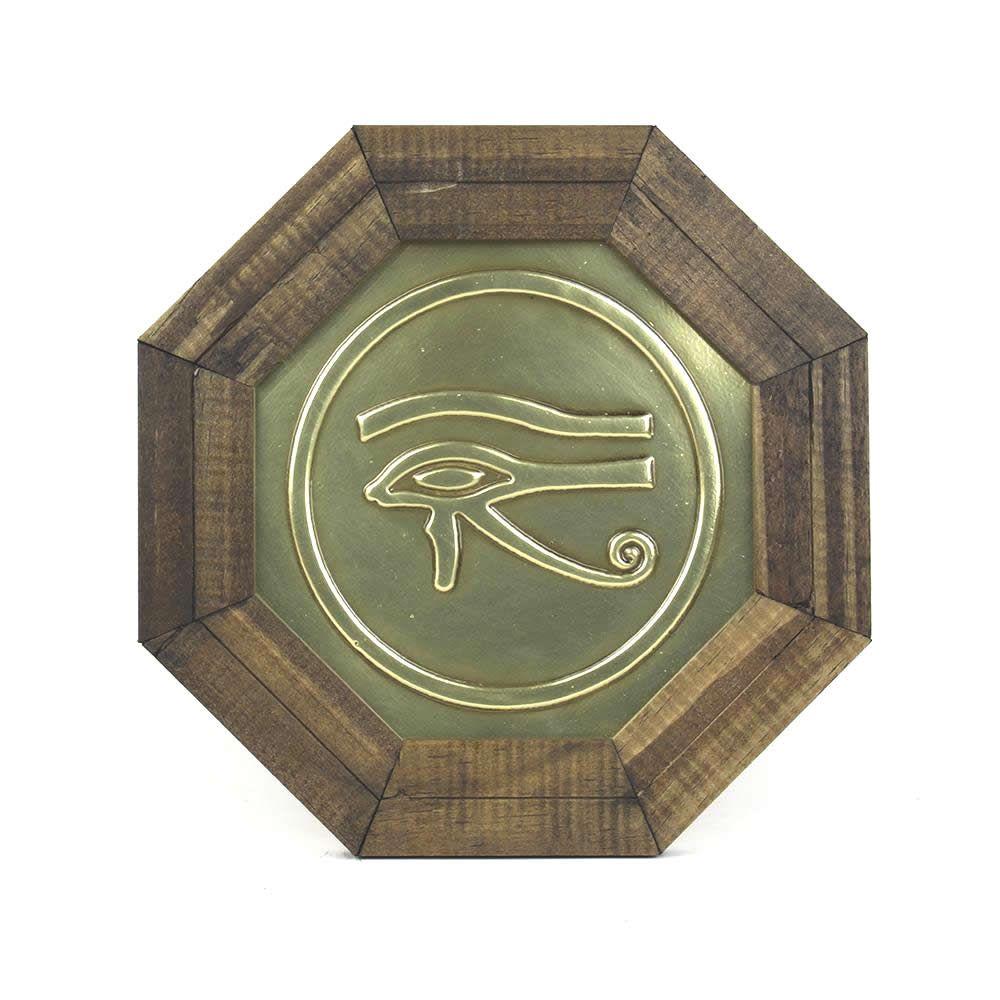 Quadro Oitavado Feng Shui Olho de Hórus com Moldura
