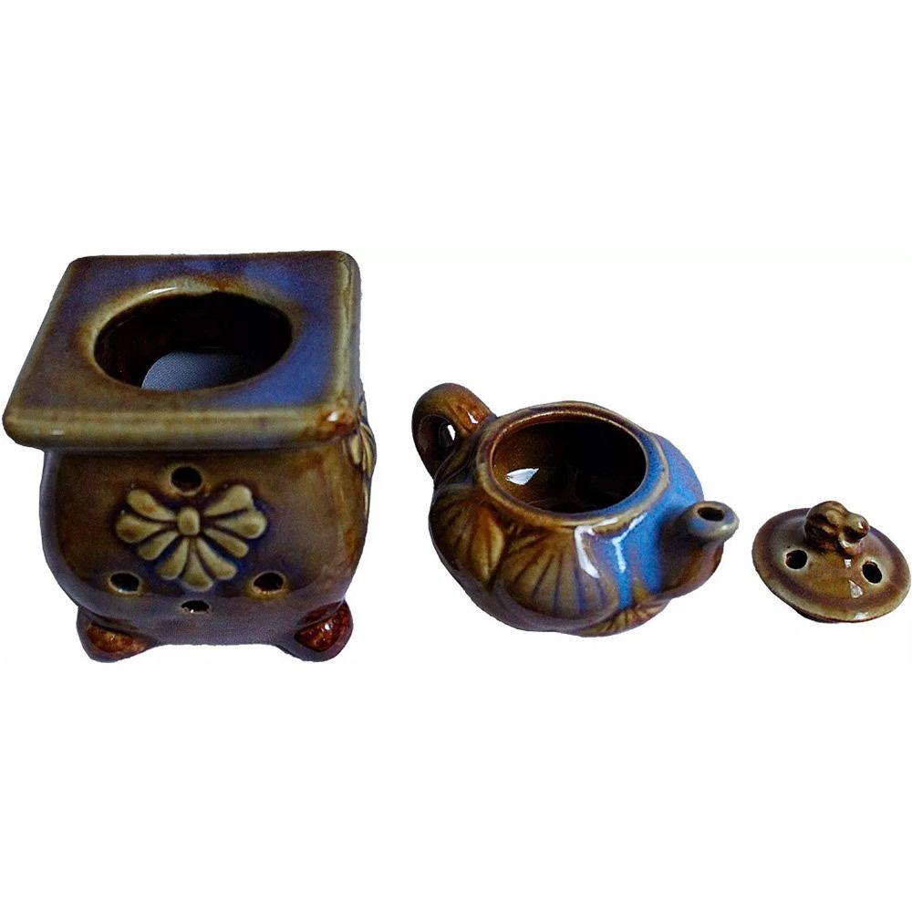 Rechaud de Cerâmica Fogão com Bule