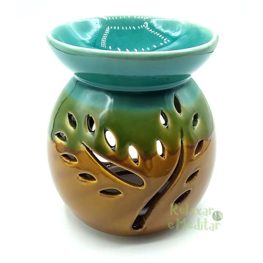 Rechaud Difusor Árvores em Cerâmica Degradê (50ml)