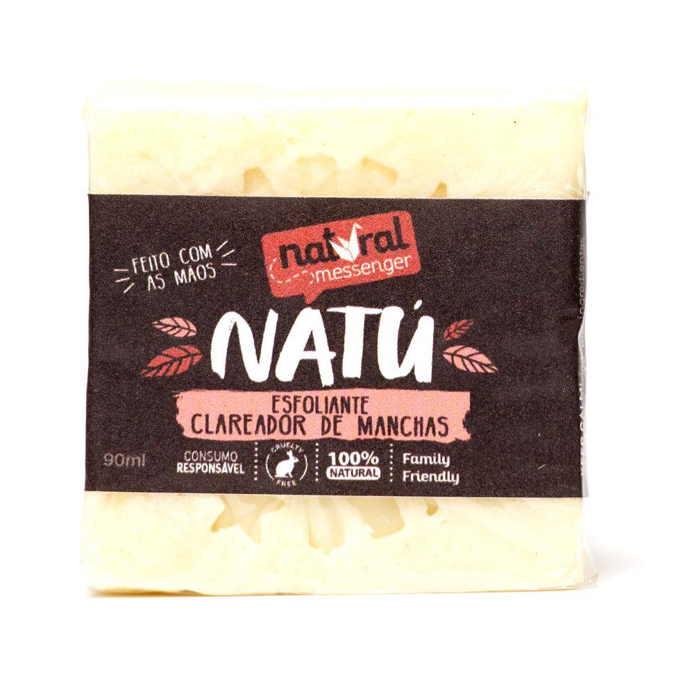 Sabonete Esfoliante Clareador com Argila Branca Natural Messenger (90g)