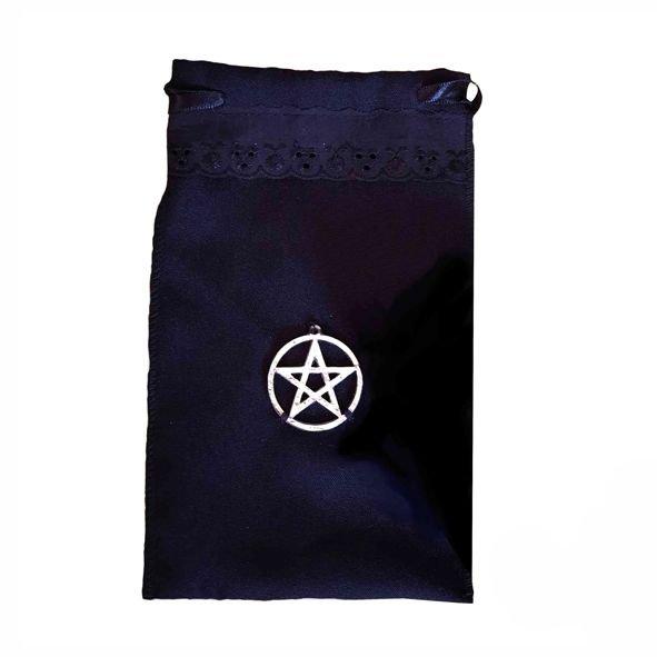 Saco para Tarot com Pentagrama em Metal