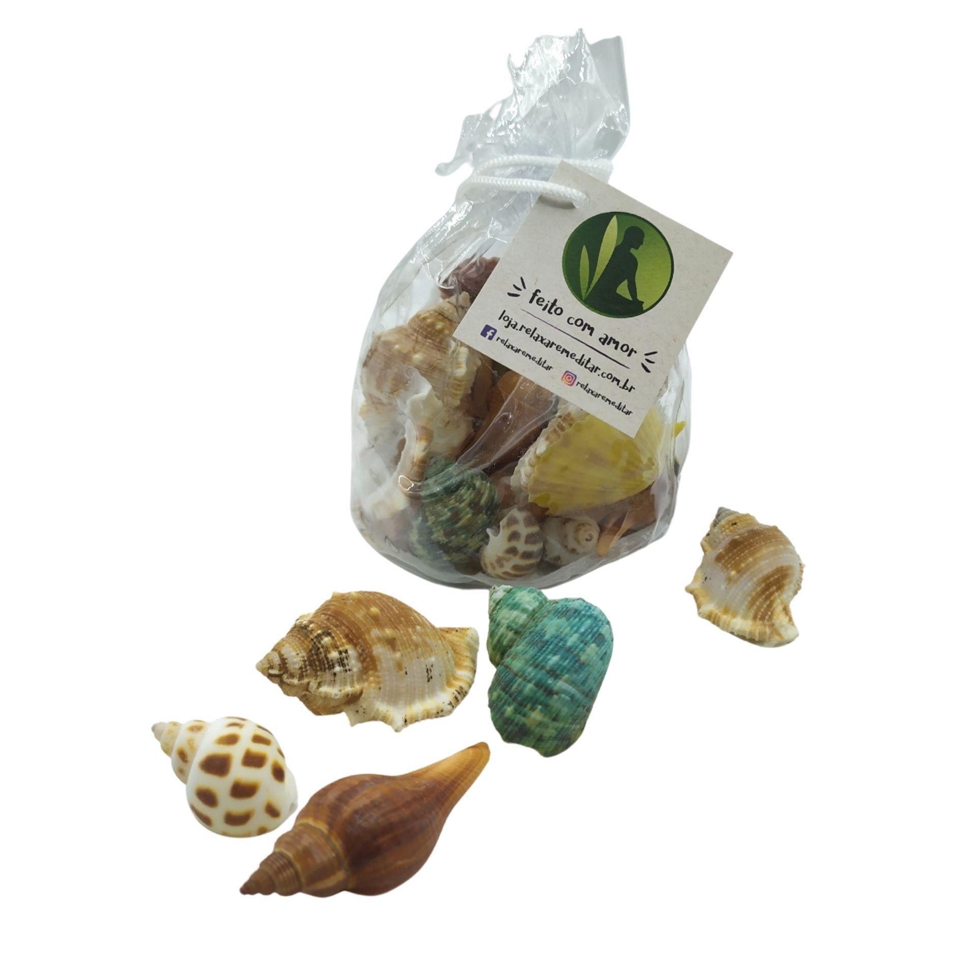 Saquinho de Conchas e Caracóis do Mar (150g)