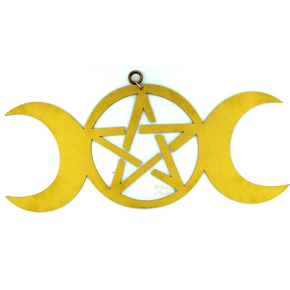 Símbolo Triluna em MDF para Pendurar (29cm)