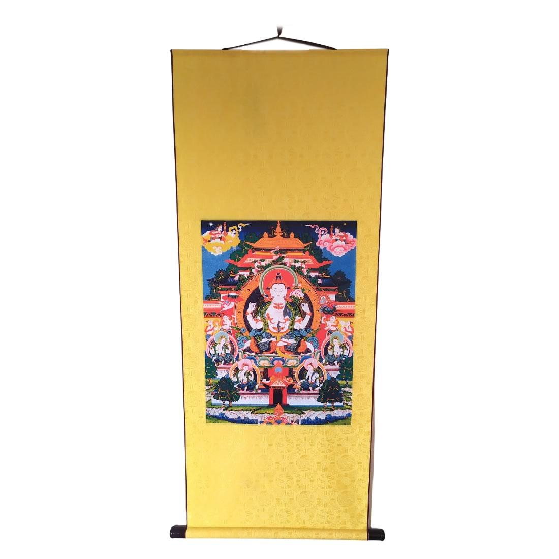 Thangka Budista Tibetana Bandeira Krishna (145cm)