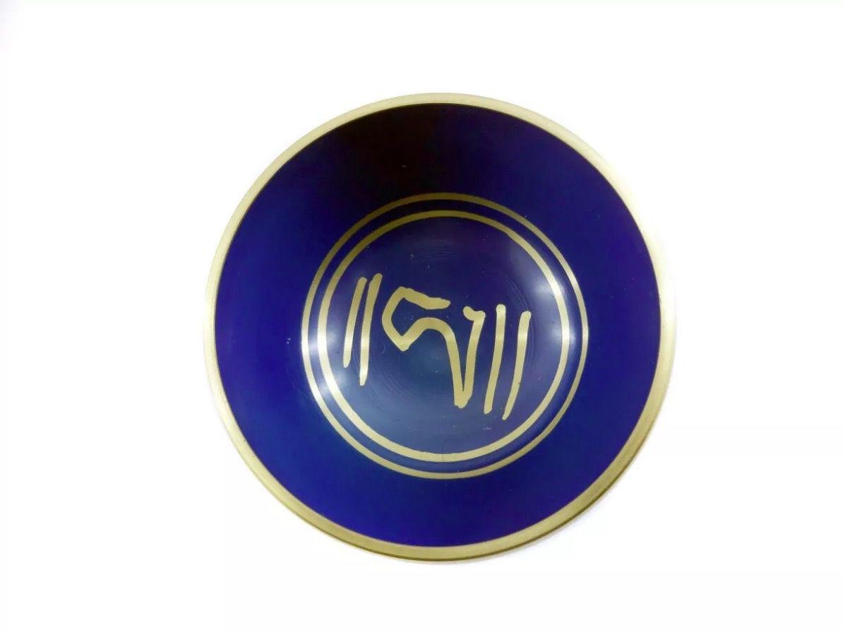 Tigela Tibetana 7 Metais Sagrados Orin (10cm) Azul