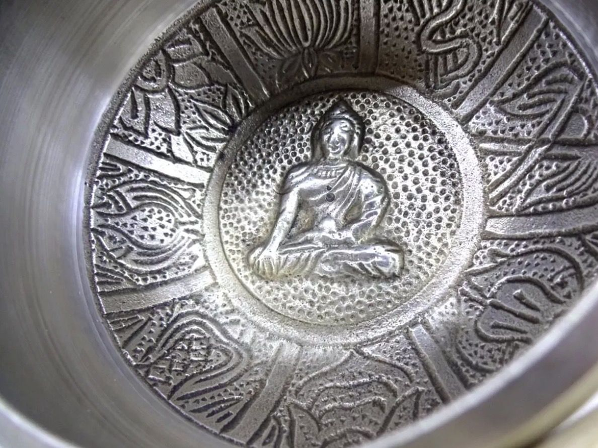Tigela Tibetana 7 Metais Sagrados Orin (7cm) Prata