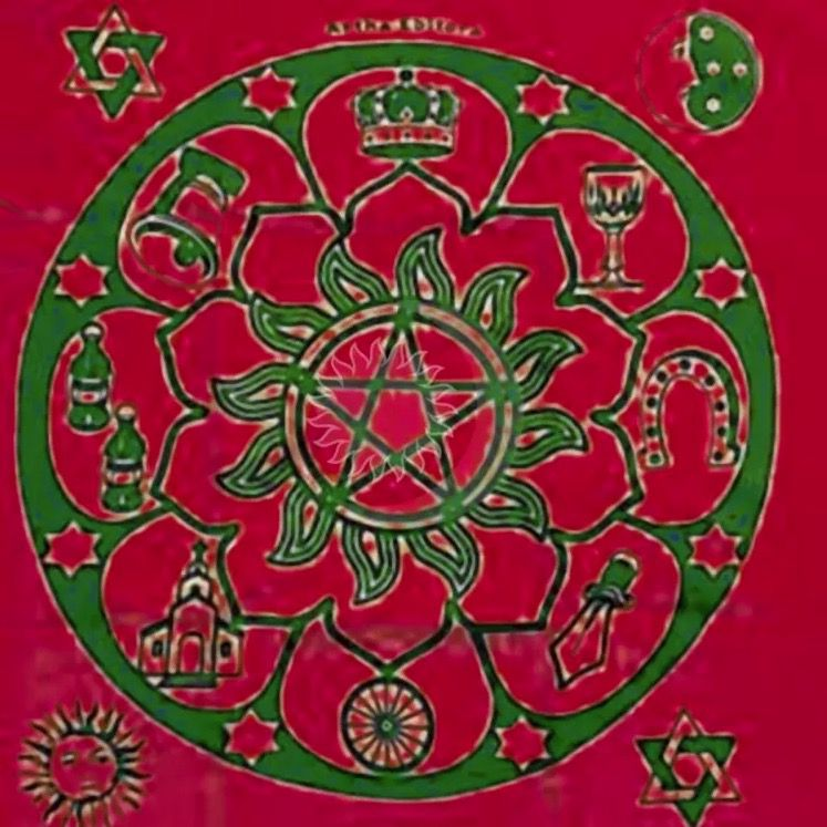 Toalha para Tarô Mandala Cigana (70x70cm)