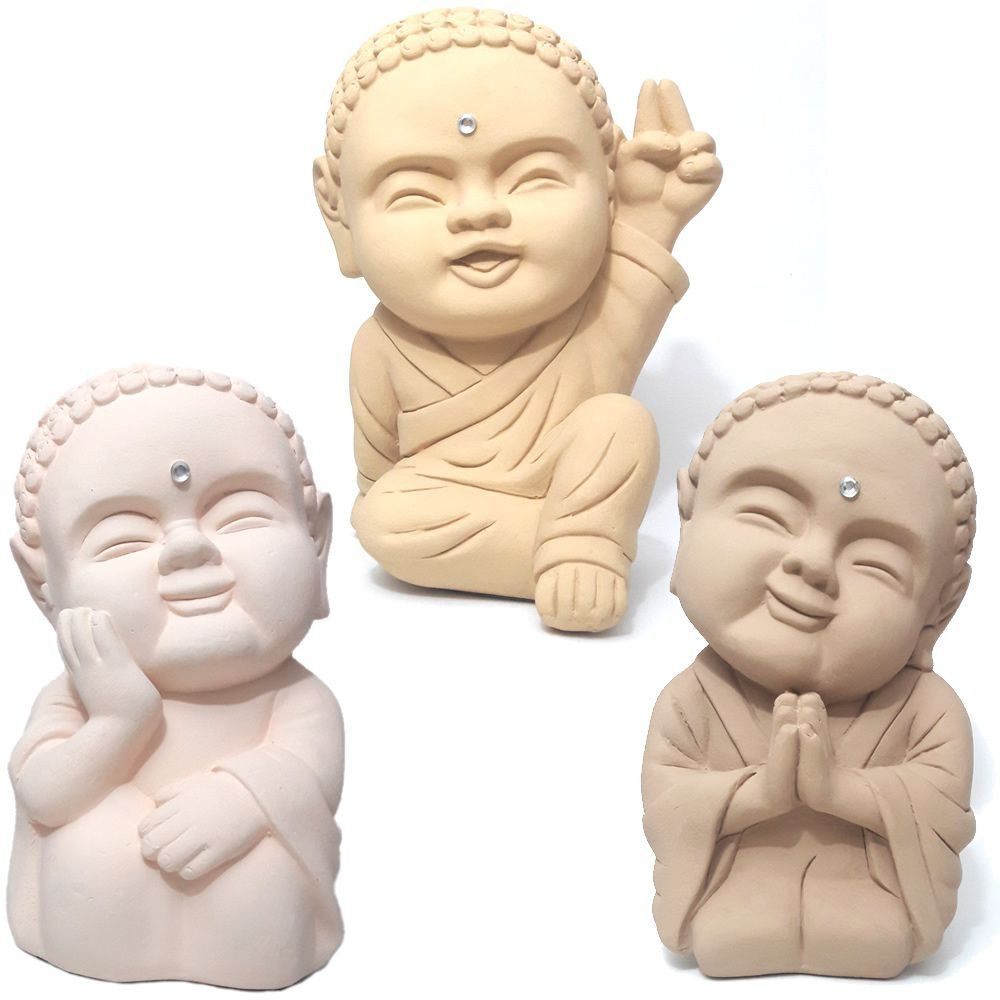 Trio de Monges Bebês Coloridos (20cm)