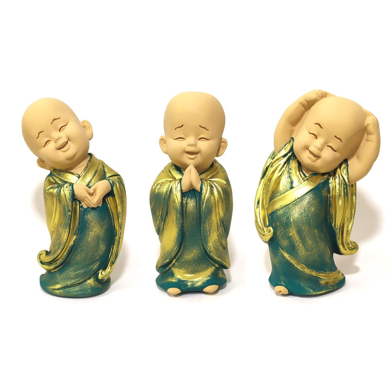 Trio de Monges da Harmonia (16cm)
