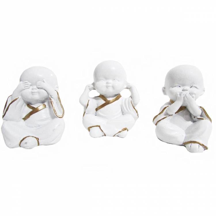 Trio de Monges Nada Vejo, Nada Falo, Nada Ouço (5cm)