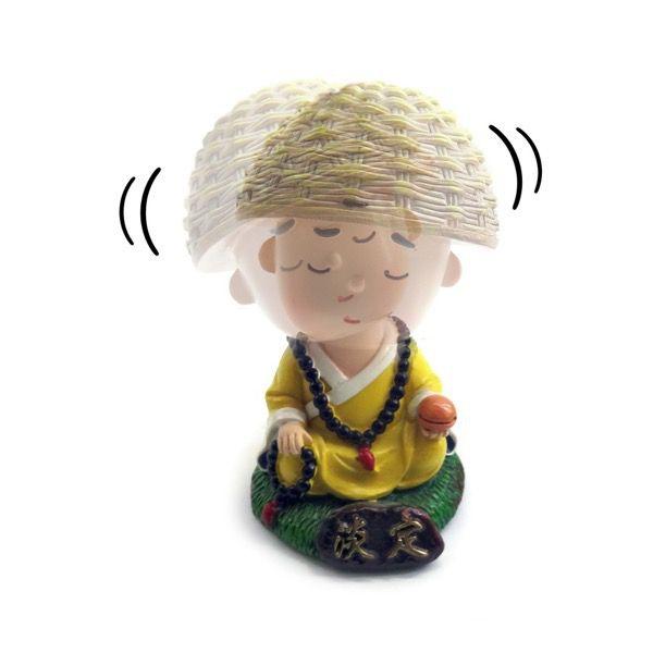 Trio de Monginhos Meditando (10cm)