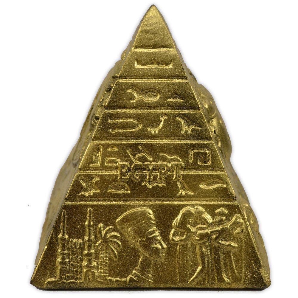 Trio de Pirâmides Egípcias (Dourada)