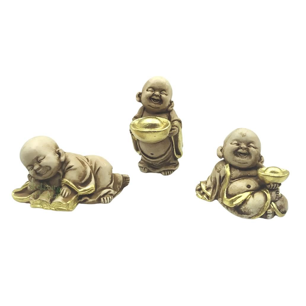 Trio Mini Buda da Prosperidade (6cm)