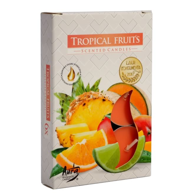 Vela Rechaud Perfumada T'Light (Frutas Tropicais)