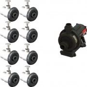 8 Dispositivo Hidromassagem Inox Standard Vinil + Bomba Sodramar Piscina