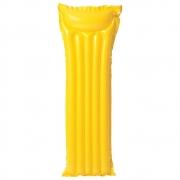 Boia Inflável Colchão Bronzeador Liso Piscina - Amarelo