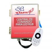 Central de Comando Led Piscina RGB Colorido 2 Zonas - 120w/10A