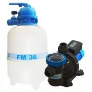 Filtro Piscina FM36 e Motobomba 1/3CV BMC33 Sodramar -  até 40.000 L