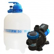 Filtro Piscina FM50 e Motobomba 3/4CV BMC75 Sodramar -  até 78.000 L