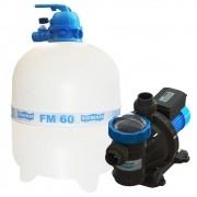 Filtro Piscina FM60 e Motobomba 1CV BMC100 Sodramar -  até 113.000 L