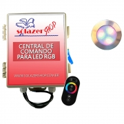 Kit 1 Led Piscina RGB 12W Inox Divina Lux + Central + Controle