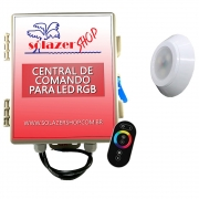 Kit 1 Led Piscina RGB 9W ABS Divina Lux + Central + Controle