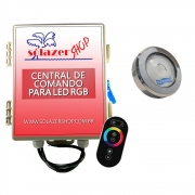 Kit 1 Led Piscina RGB COB Colorido Sodramar + Central Touch