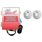 Kit 2 Led Piscina RGB 9W + Central + Controle Touch - Luxpool