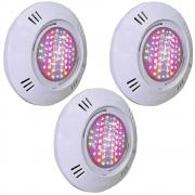 Kit 3 Iluminação LED Piscina SMD 5W RGB Colorido - Sodramar