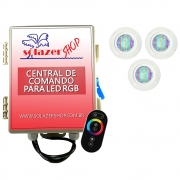 Kit 3 Led Piscina Pratic SMD 5w + Central Touch - Sodramar