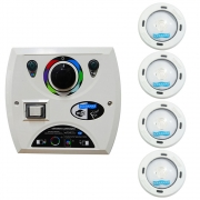 Kit 4 LED Piscina RGB Colorido COB + Central Wifi Sodramar