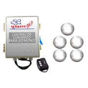 Kit 5 Led Piscina Inox Monocromático 9w + Central - Tholz