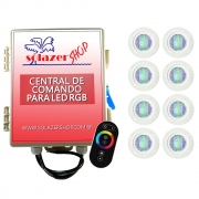 Kit 8 Led Piscina Pratic SMD 5w + Central Touch - Sodramar