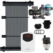 Kit Aquecedor Solar Piscina 24m² + Motor 1/2 CV - CMB Aqua