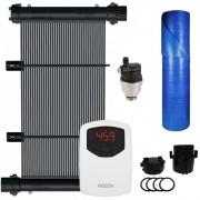 Kit Aquecedor Solar Piscina 40m² + Capa Térmica - CMB Aqua