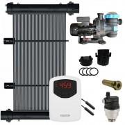 Kit Aquecedor Solar Piscina 60m² + Motor 1/2 CV - CMB Aqua