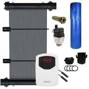 Kit Aquecedor Solar Piscina 84m² + Capa Térmica - CMB Aqua