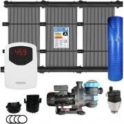 Kit Aquecedor Solar Piscina até 15m² + Capa + Motor 1/2 CV - CMB Aqua