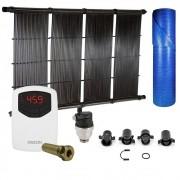 Kit Aquecedor Solar Piscina até 54m² ou 75.000L + Capa Termica