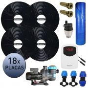 Kit Aquecedor Solar Piscina Girassol 72.000 L + Bomba + Capa