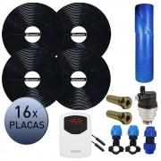 Kit Aquecedor Solar Piscina Girassol até 64.000 L + Capa