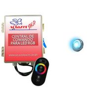 Led Piscina - Kit 1 Led Tholz 9W Inox RGB com Central e Controle Touch