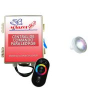 Kit 1 Led Piscina 4,5W ABS + Central + Controle Touch - Tholz