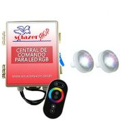 Led Piscina RGB - Kit 2 Led Tholz 4,5W ABS com Central e Controle Touch