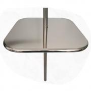 Mesa Quadrada para Piscina em Inox Bar Molhado - 60cm